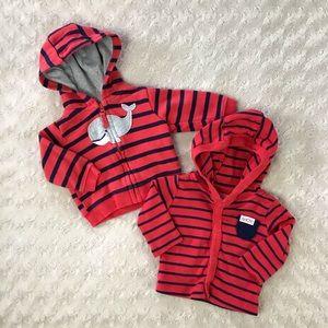 Just One You Jacket Bundle Whale Stripes Newborn